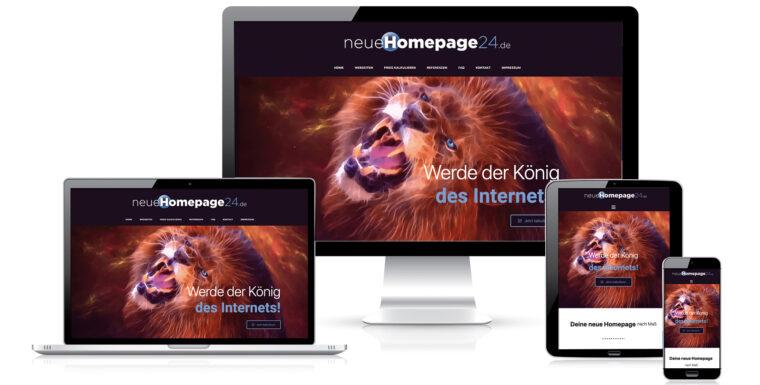 Homepage selber konfigurieren
